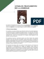 TÉCNICAS PARA EL TRATAMIENTO DE LA ANSIEDAD