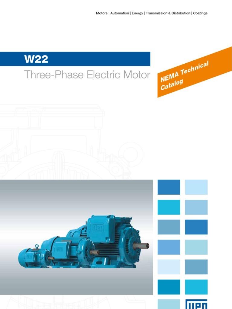 WEG w22 Three Phase Motor Technical Nema Market 50029265 Brochure ...