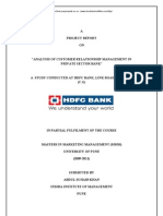 Analysis Customer Relationship Hdfc Bank