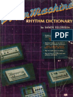 Roland Drum Machine Rhythm Dictionary Ocr