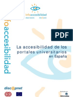Accesibilidad Portales Universitarios Espana