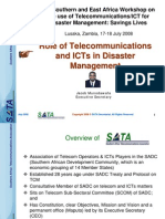 Sata Role of Telecommunications and Ics in Disaster Management