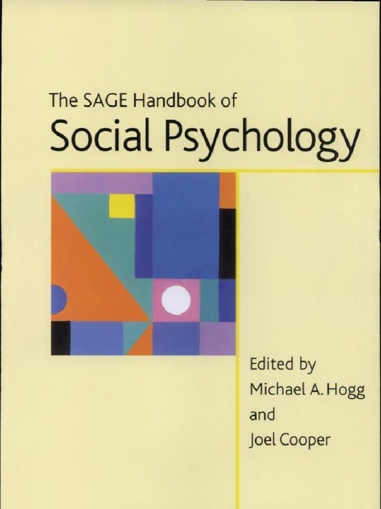 The SAGE Handbook Of Social Psychology Concise Student Edition Sage Program