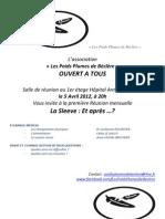 INVITATION REUNION DU 05 AVRIL 2012