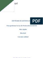 Software Proteccion de Datos Lopd