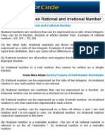 Difference Between Rational and Irrational Number