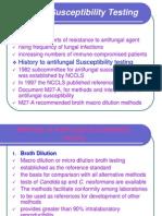 Anti Fungal Susceptibility Testing