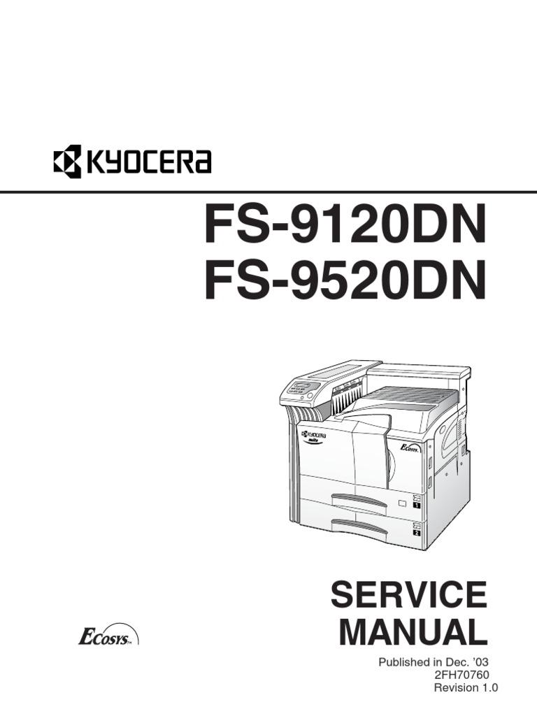 Kyocera Service Manual for FS-9120DN FS-9520DN
