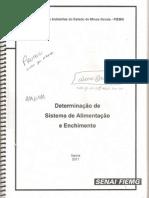 DETERMINAÇÃO DE SISTEMAS DE ENCHIMENTO E ALIMENTAÇÃO