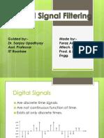 Digital Signal Filtering(Faraz Ansari)