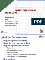 Power Regular Expressions Using Java