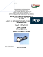 Análisis de Objeto Técnico La Linterna