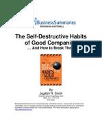 The Self Destructive Habits of Good Companies PDA