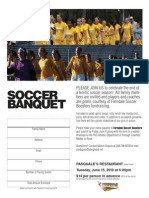 2011 girls soccer banquet flyer