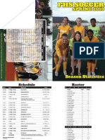 2010 Girls Soccer Banquet Season Statistics