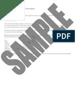 Resume Critique Sample