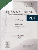 Naskah Soal Prediksi Un Matematika Sma Program Ipa 2012 Paket 12