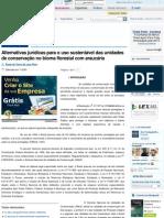 Alternativas jurídicas para o uso sustentável das unidades de conservação no bioma florestal com araucária - Revista Jus Naviga
