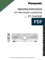 Panasonic Pt d4000e Manual