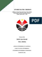 Sejarah Mega Mendung Batik Cirebon