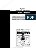 Edirol V-4 video mixer Owner's Manual