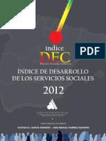 Indice de Desarrollo de Los Servicios Sociales 2012