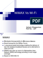 Networking PPT on WiMAX vs WiFi