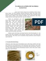Sabut Kelapa Sebagai Alter Nat If Material Bangunan