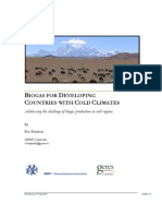 Biogas for Developing Countries With Cold Climates