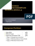 Bahasa Indonesia Tutorial 5 (Penerapan Kemampuan Membaca)