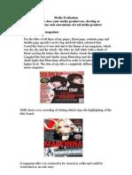 Media Evaluation Question 1