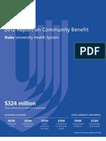 Duke Medicine FY2011 Community Benefit Report