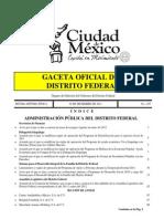 Gaceta de Gobierno Del Df 2012