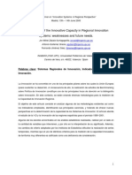 Measurement of the Innovative Capacity in Regional Innovation Systems