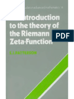 An Introduction to the Riemann Zeta Function by Patterson