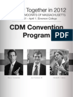 CDM 2012 Convention Program