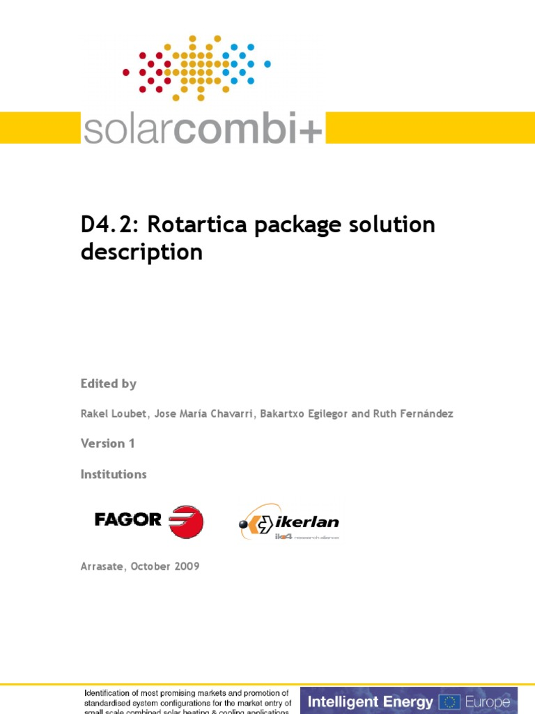 D42 Rotartica V02 English Air Conditioning Solar Energy Series Electric Circuit Loublet Schematic