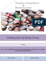 Chapter 9 Foundations of Group Behavior