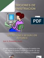 DEFINICIONES DE ADMINISTRACION