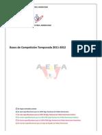 Bases de Competición AEFA Temporada 2011-2012