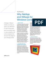 10 Top Reasons Why NetApp and VMware for Windows Consolidation