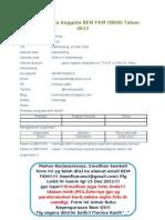 Form Biodata Anggota BEM2011