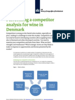 2011 Performing a Competitor Analysis for Wine in Denmark