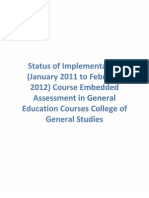 Appendix 19 Status Implementation Course Embedded Assessment General Education Courses College of General Studies