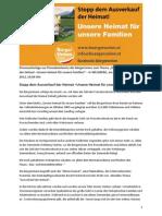 Stopp dem Ausverkauf der Heimat - Unsere Heimat für unsere Familien - Pressekonferenz BürgerUnion