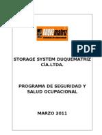Pg-ss-01 Programa de Seguridad y Salud Ocupacional