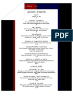 Cafe Des Amis Dinner Menu