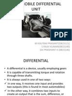 Automobile Differential Unit Final