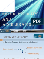 The e Tutor - Speed, Velocity and Acceleration