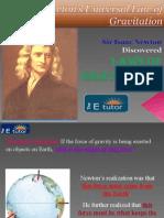 The E Tutor - Newton's Law of Gravitation